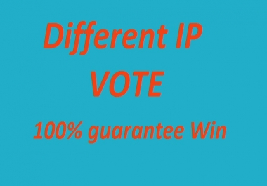 Get you 150 ip votes on your online poll voting contest