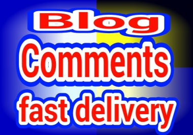 15 blog comments with fast delivery.