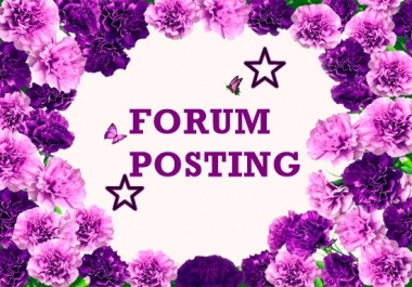 provide 50 forum posting backlinks
