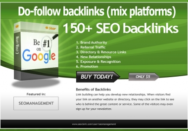 Create 145+ Do-Follow High PR and DA Google Penguin safe SEO Backlinks for extra ranking