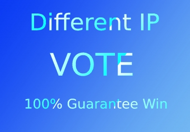 Give 100 Different IP votes your online contest polls