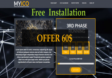 Initial Coin Offering Platform script with low price source code & free installation
