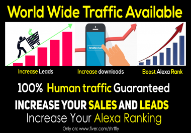 Targeted traffic on your website from worldwide low bounce rate