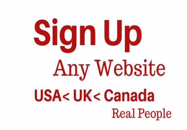 100+ Real USA,Uk,Canadian Real People Sign Up to Your Website