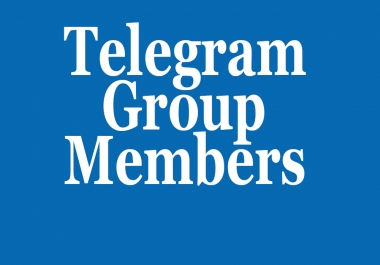 Real 100+ USA & World Wide Telegram Group members within few hours