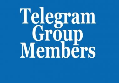Real 100+ Telegram Group members within few hours