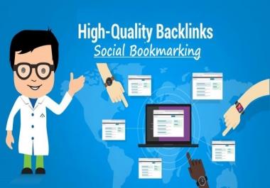 Get 200 PR Social Bookmarking Backlinks With Report