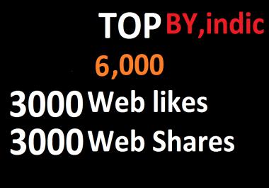 6,000 Social Signals White Hat SEO Backlinks Rank on TOP 1 Social Media
