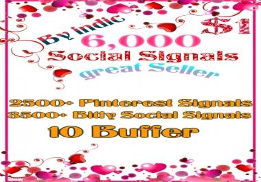 6,000 Social Signals White Hat SEO Backlinks Rank on TOP 3 Social Media
