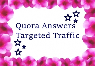 Provide 10 quora answers with website keyword and  url