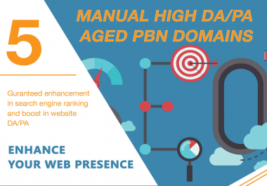 Get Your GOOGLE Serp Higher With 5 Permanent DA35+ PBNs Backlinks