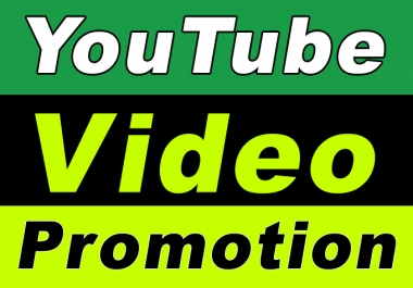 Promote YouTube Video for Seo Ranking Promotion and Marketing