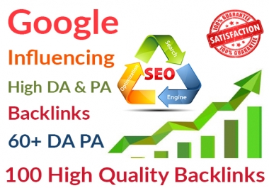 Google Influencing 100 Backlinks from High 60+ DA PA Web 2.0 Profile Backlinks