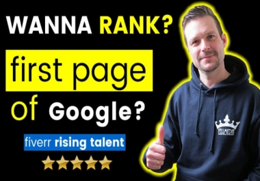 rank you on the first page of google with my SEO service