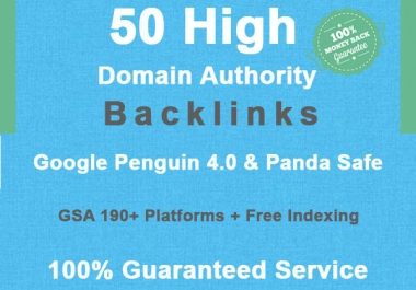 create 50 high domain authority SEO backlinks
