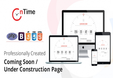 OnTime - Coming Soon Page / Under Construction Page with installer