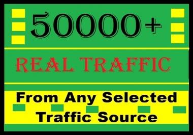 50000+ human traffic from Social media or google, bing, yahoo