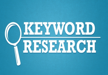 Do SEO Keyword Research and Competitors Analysis.