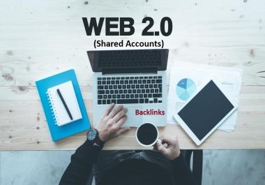 (DA (30 - 100)) 50 web 2.0 blogs Shared Accounts