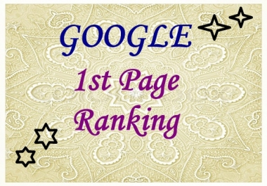 Guaranteed google 1st page ranking