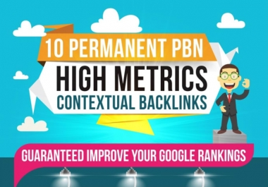 I will do 10 high PA DA TF CF permanent homepage pbn backlinks
