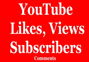 Buy 310+ You.T.ube. Likes or 1000+ View.s or 100+ Subscribers  or 30+ custom Comments