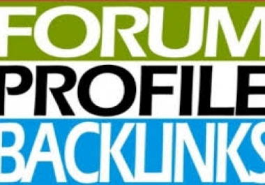 I will  create 150+ manually  forum profile backlinks for boost your rank