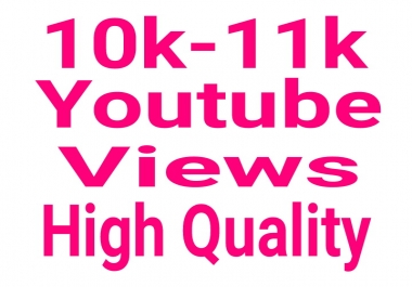"High Quality 10000-11000 You ""tube Vi""ews nondrop and permanent  lifetime guaranteed"