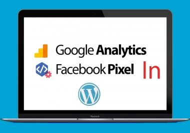 setup facebook pixel & google analytics in wordpress