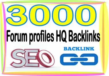 Create Over 3000 HQ PR Panda Safe Forum profiles Backlinks