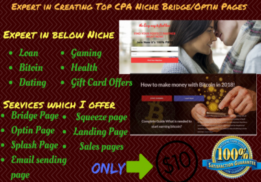Design Any Type Of Landing Page For CPA Offers To Earn Money