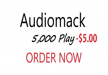Audiomack 5,000 play  for Album Or Mixtape Only