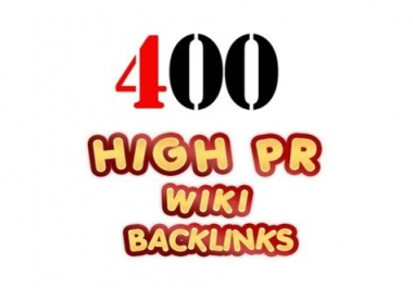 Will Creating 400+ HIGH PR WIKI Powerful Backlink FULLY SAFE