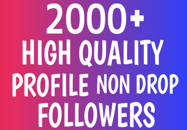 Add Fast 2000+ Profile Followers NON DROP AND High Quality