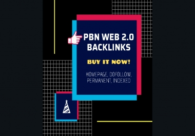 PBN Web 2.0 Backlinks Homepage, Dofollow, Permanent, Indexed