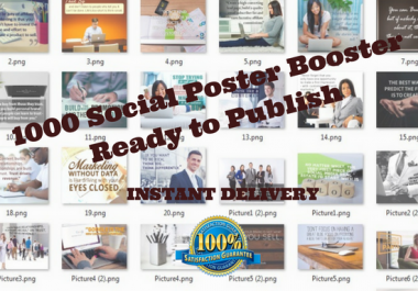 I can Give You 1000 Social Posters Booster Ready To Rumble