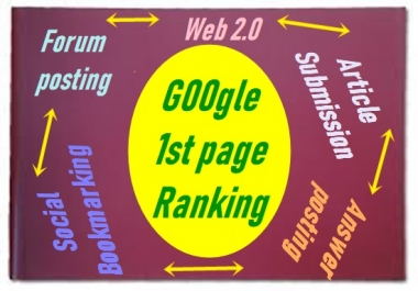 No .1 High Quality Google 1st page Ranking + Unlimited  Targeteed Traffic  +Exclusive  Link pyramid