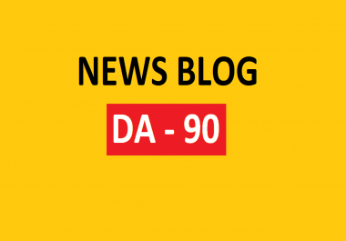Write and Publish Guest Post On DA-90 News Website