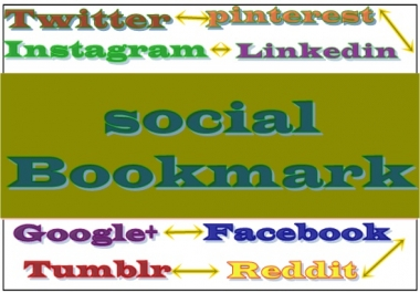 2oo+ social bookmarks to your  website +   high quality report