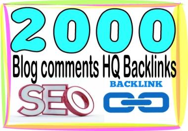 Rank On Google  2000 HQ. Blog comments PR7 to PR10 Backlinks