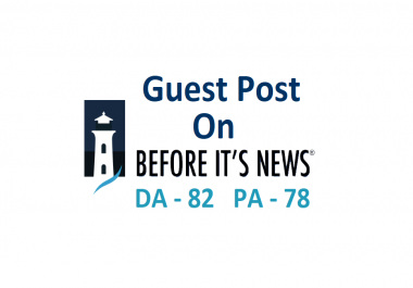 Write And Publish Guest Post On BeforeItsNews With Dofollow Link