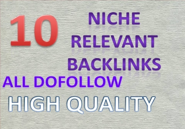 manually do 10 niche relevant links for your theme