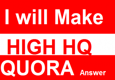 Get Keyword Related  22 Quora Answer For Targeted Traffic