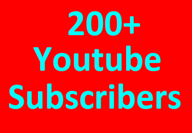 200+ YouTube Chanel Subscribers Non Drop guaranteed in 1-3 hours completed