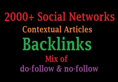 2000 Social Networks Contextual Articles Backlinks