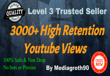 Get Super Fast 3k+ or 3000 YT Vevo Video veiws Non Drop Fully Safe & Real