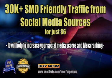 30K Social Media Traffic to increase your website ranking