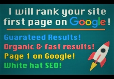 OFFER GOOGLE 1ST PAGE RANK WITH 100% GAURANTEE