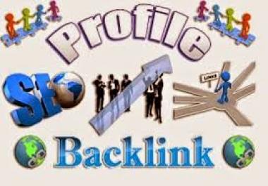 """i Will "" Create Manually 10 High Authority Profile Backlink"