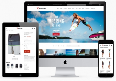 Create responsive e-Commerce Website (Secure, SEO friendly)